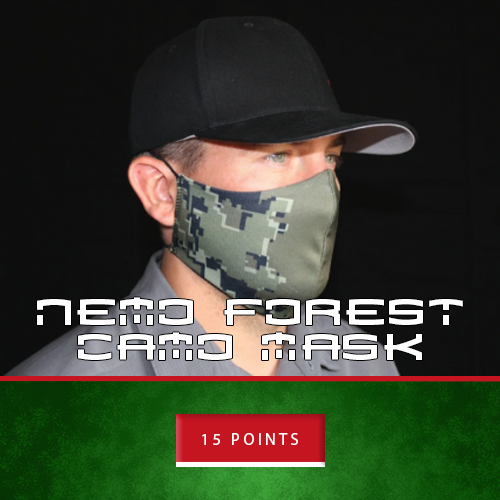 forest camo mask